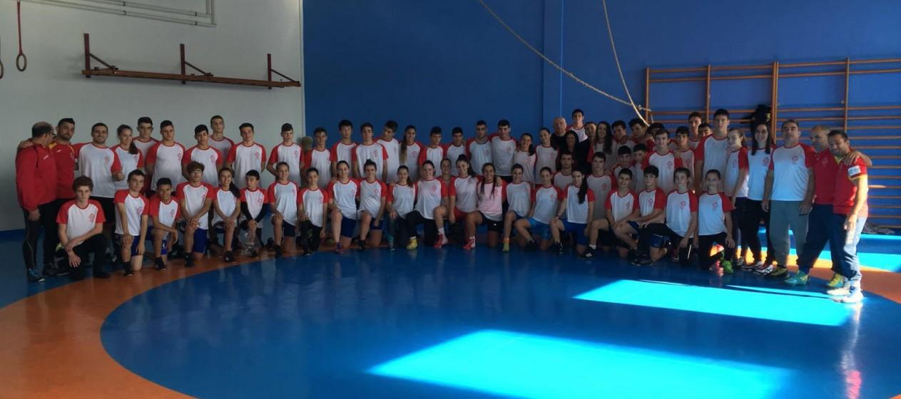 Selección Escolar concentración CGTD Pontevedra