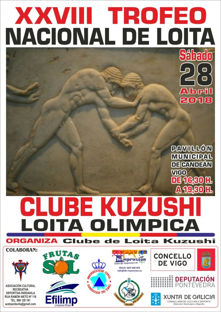 Cartel Torneo Kuzushi, 28 Abril en Vigo