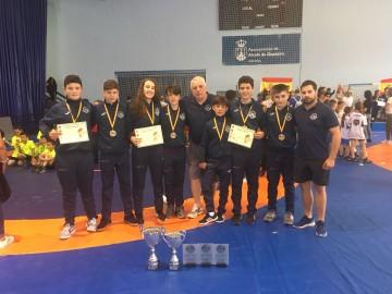Selección Gallega con troteos y medallas