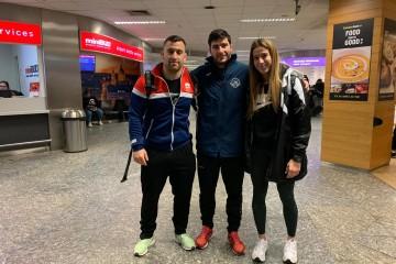 Damián Iglesias, Pablo García e Lydia Pérez