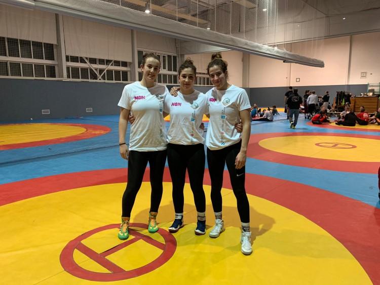 Nerea Iglesias, Nerea Pampín y Lydia Pérez